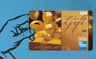 American Express gift card or Visa gift card - steamgifts.com