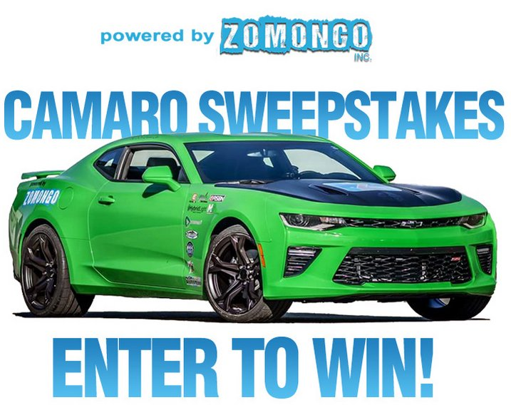 Best sweepstakes to enter 2018 camaro
