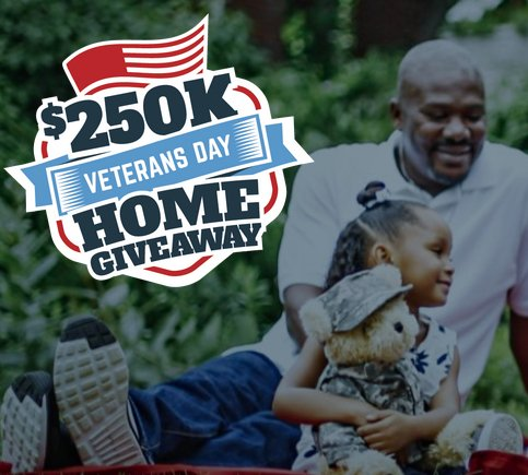 Mortgage research center llc dba veterans united home for New home giveaway