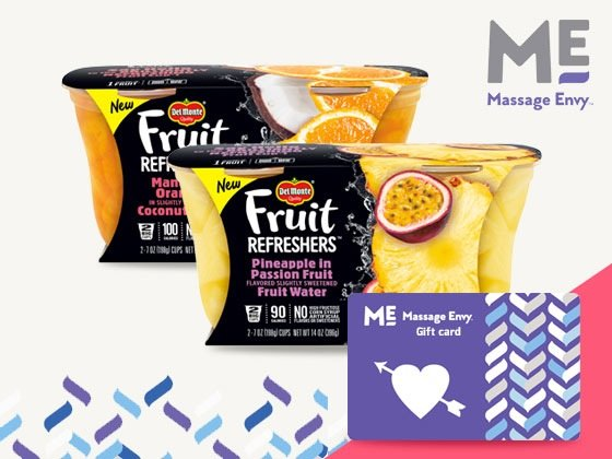 Win a Del Monte Prize Package & Massage Envy Gift Card!