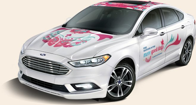 win this 45 000 ford warriors in pink new fusion car. Cars Review. Best American Auto & Cars Review